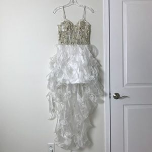 White Corset Dress with Sequins size 1/2